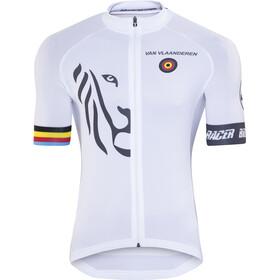 Bioracer Van Vlaanderen Pro Race Koszulka rowerowa z zamkiem błyskawicznym Mężczyźni, biały